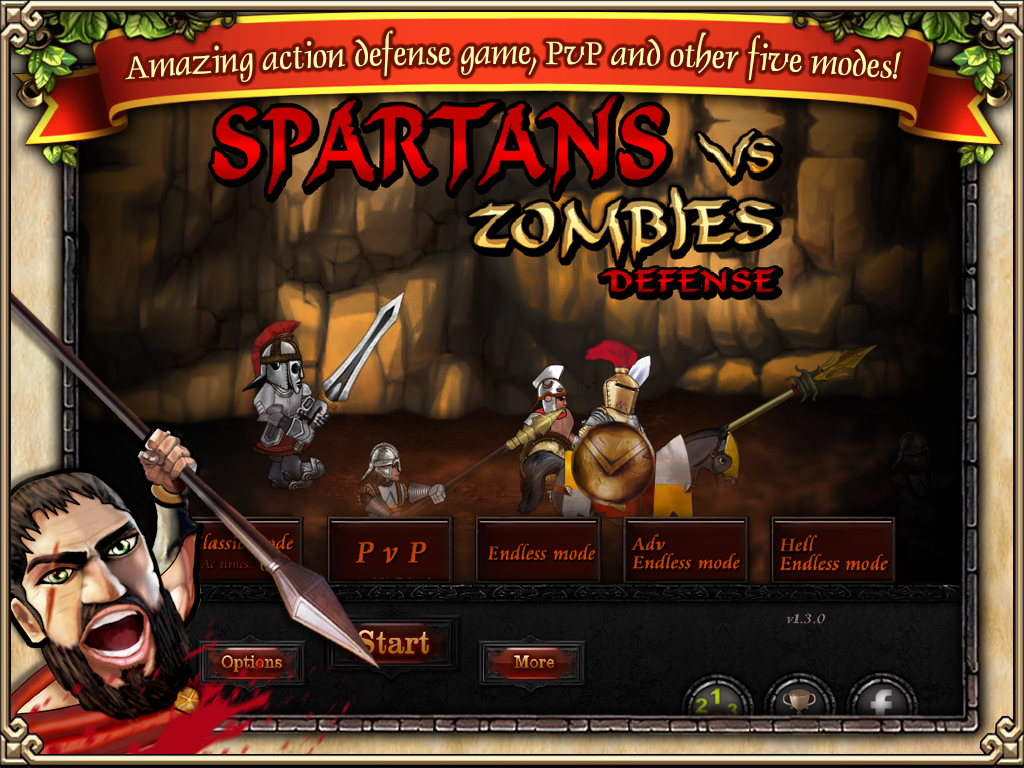 Spartans vs Zombies defense- screenshot