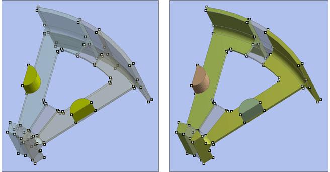 ANSYS Составные детали (Multibody Parts) в рассматриваемой модели сектора колеса