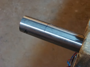 Photo: I've scribed the centerline of my top tube to keep the miters in phase with each other and then marked the miter to miter distance.