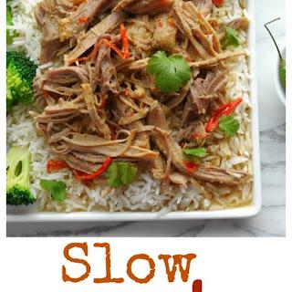 Slow Cooker Thai Pulled Pork.
