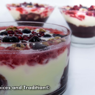 POMEGRANATE AND CHERRY TRIFLE
