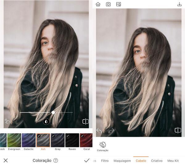 Foto de uma mulher sendo editada pelo airbrush