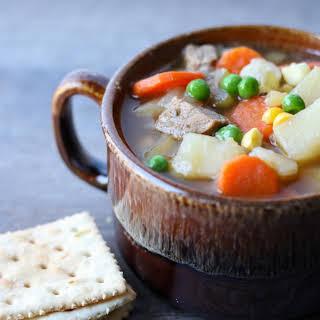INSTANT POT Steak Soup.