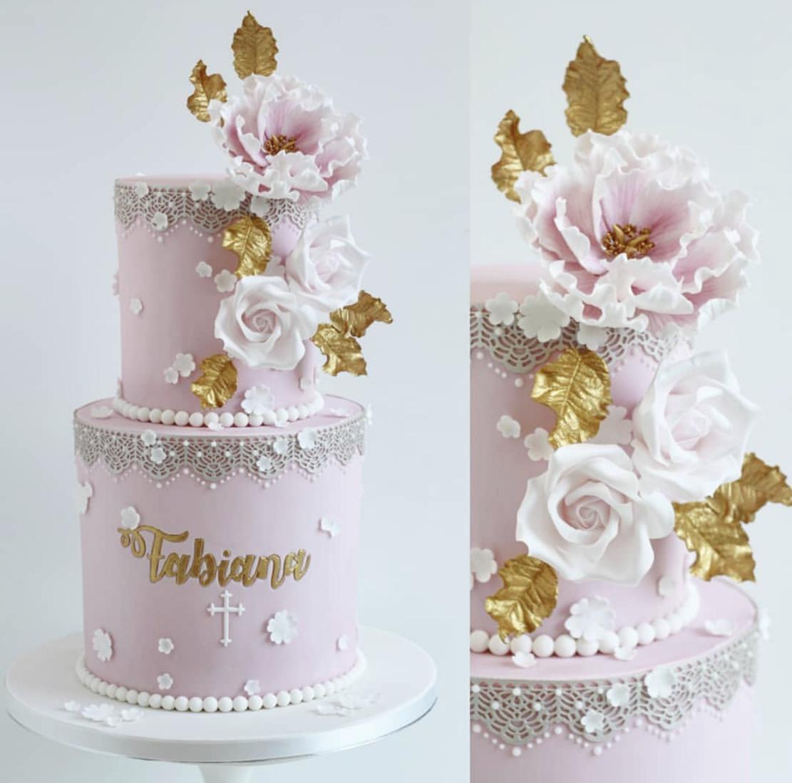 glamorous Holy Communion cake