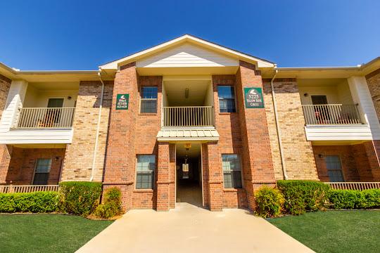 Exterior entrance into apartment building
