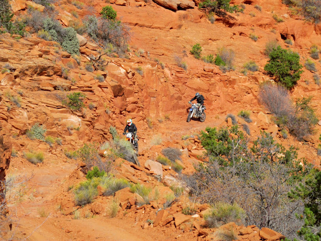 Paul and Wade riding down the Flint Trail