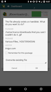 MyJDownloader Remote Official Capture d'écran