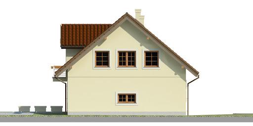 Dom przy Wiosennej 5 - Elewacja prawa