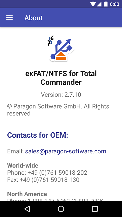 Microsoft exFAT/NTFS for USB by Paragon Software- screenshot