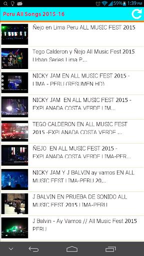 Peru All Songs 2015