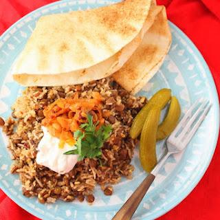 Mujadarra (Lentils and Rice).