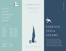Essence Yoga Pamphlet - Trifold Brochure item