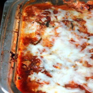 Low Carb Zucchini Lasagna with Spicy Turkey Meat Sauce Recipe