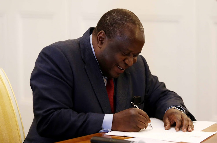 Tito Mboweni was sworn in as the new Finance Minister in Cape Town, on Tuesday, October 9 2018.