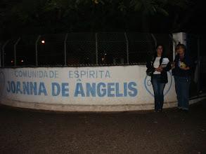 Photo: Márcia e Mei na Comunidade Espírita Joanna de Angelis em Osvaldo Cruz/SP
