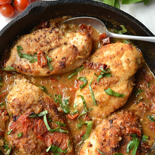 Creamy Sun Dried Tomato & Basil Chicken Recipe