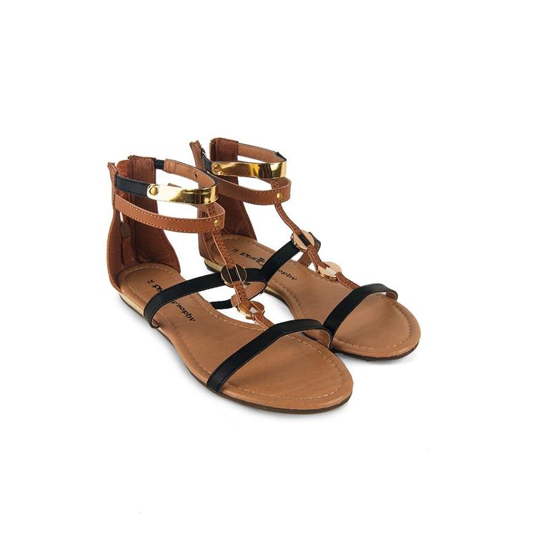 Vardon Gladiator Sandal Flats by Hijab Le Modesty