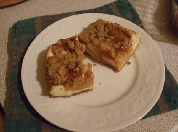 Spread cream cheese mixture evenly over partially baked crust. In medium bowl, mix pie...