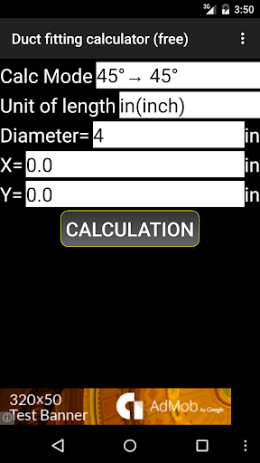 Duct fitting calculator free