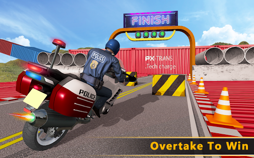 Police Bike Mega Ramp Impossible Bike Stunt Games painmod.com screenshots 14
