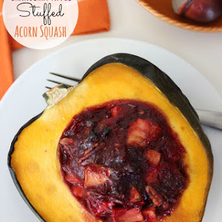 Cranberry Apple Stuffed Acorn Squash