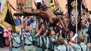 La cofradía del Cristo de la Buena Muerte de Málaga.