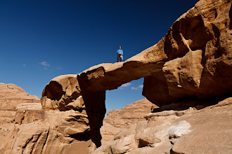 Photo: We scrambled to the top of some arches