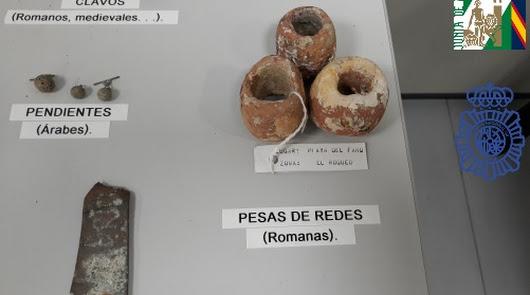 Intervienen 500 piezas arqueológicas obtenidas ilegalmente