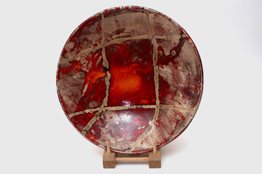 Bruce Chivers Ceramic Raku Charger 01