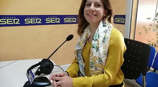 Beatriz Vargas, al frente del pelotón ciclista almeriense