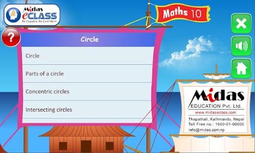 MiDas eCLASS Maths 10  Demo screenshot 2