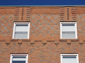 Photo: Sixth floor brick detail