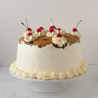 Three Layer Pineapple Upside Down Cheesecake Cake