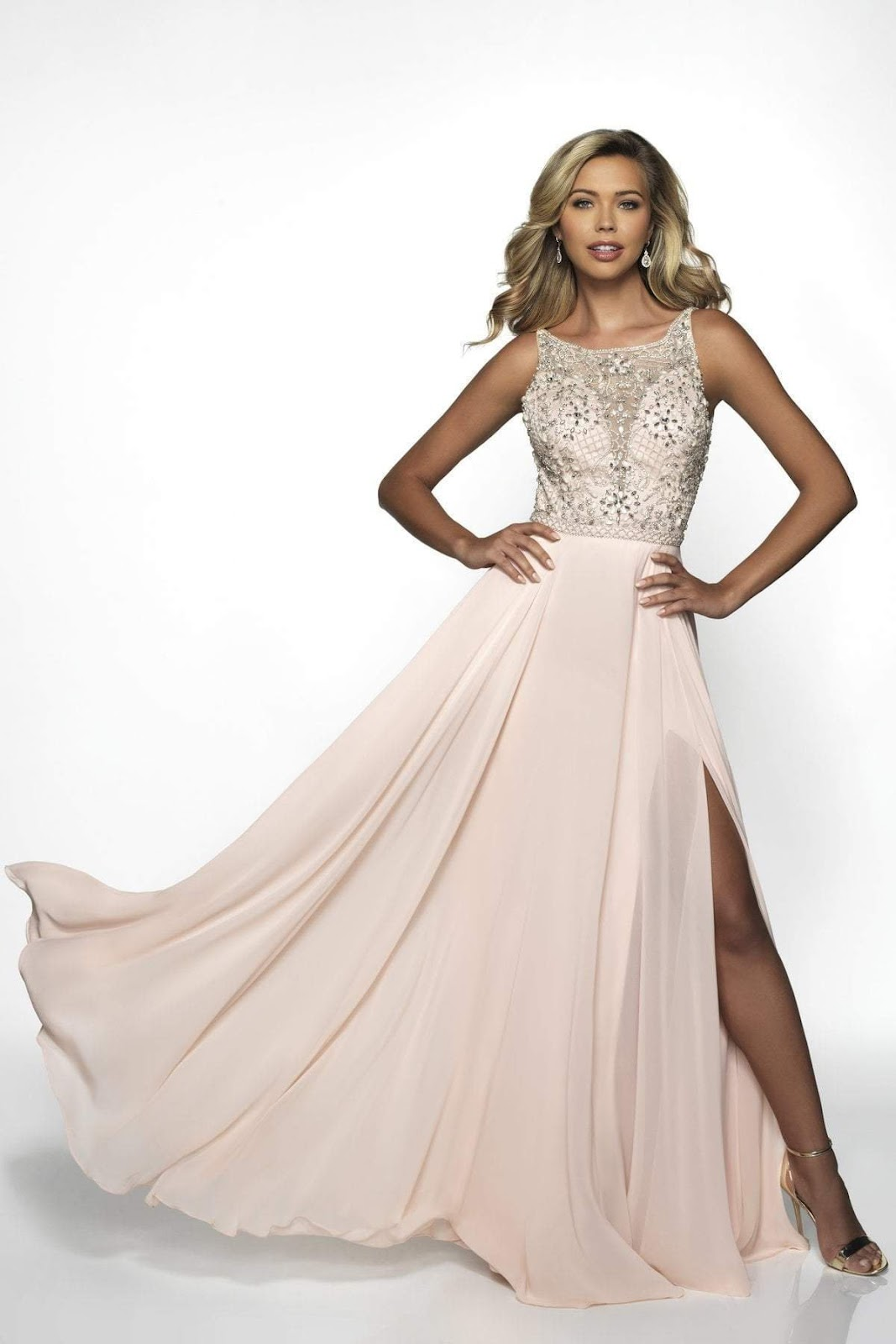 BLUSH BY ALEXIA DESIGNS - BEADED A-LINE EVENING GOWN C2081SC
