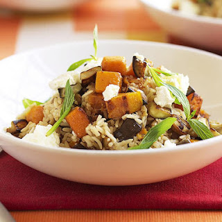 Butternut Squash and Lentil Pilaf