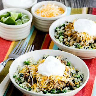 Instant Pot (or Slow Cooker) Low-Carb Green Chile Pork Taco Bowl.