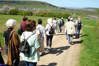 Photo: Links vor uns Eimersdorf, im Hintergrund rechts Saarfels