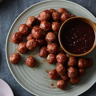 Turkey Meatballs With Cranberry Sauce