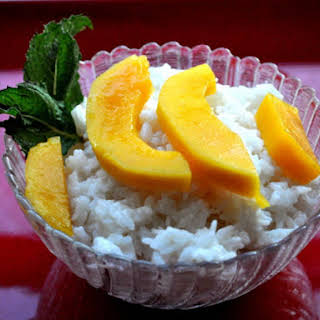 Coconut Sticky Rice with Mango.