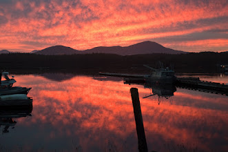 Photo: Magnificent sunset at Shearwater