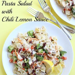 Vegan Pasta Salad with Chili Lemon Sauce
