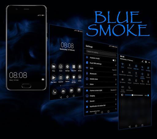 Blue Smoke EMUI 5/8/9 Theme 2.5 screenshots 1