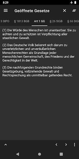 Lawdroid – Deutsche Gesetze und EU-Recht screenshot 8