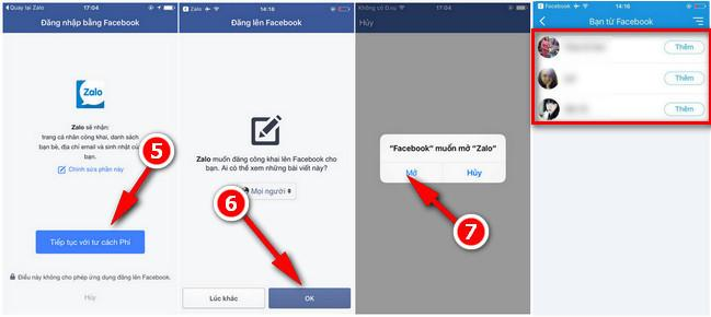 Cách đăng nhập zalo bằng Facebook