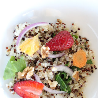 Spinach, Strawberry and Quinoa Salad