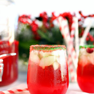 Sparkling Cranberry Lime Holiday Punch.