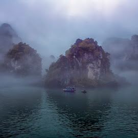 Morning in Halong by Mac Evanz - Landscapes Mountains & Hills