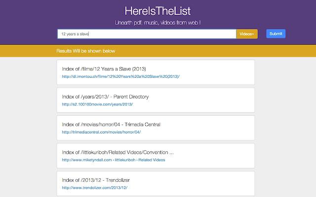 Hereisthelist