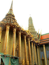 Photo: Bangkok, Wat Phra Kaew, Phra Mondop (the library) and the Royal Pantheon