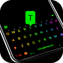 Led Neon Black Keyboard Theme icon